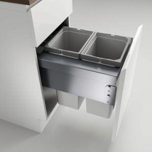 Cox® Base 460 S/400-2, afvalsysteem voor Frontuittreksysteem, lichtgrijs, H 460 mm