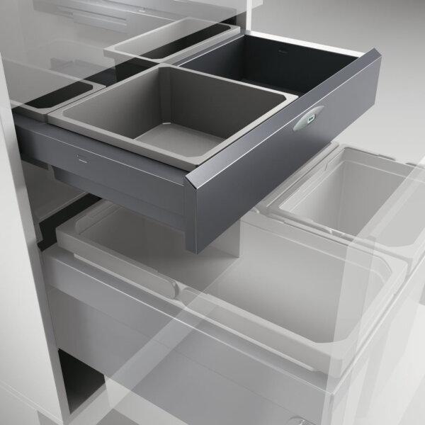 Cox Base-Board® 500, afvalsysteem voor Frontuittreksysteem, zilver