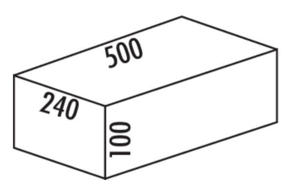 Cox Base-Boardィ 500, Afvalverzamelsysteem voor Frontuittreksysteem., zilver