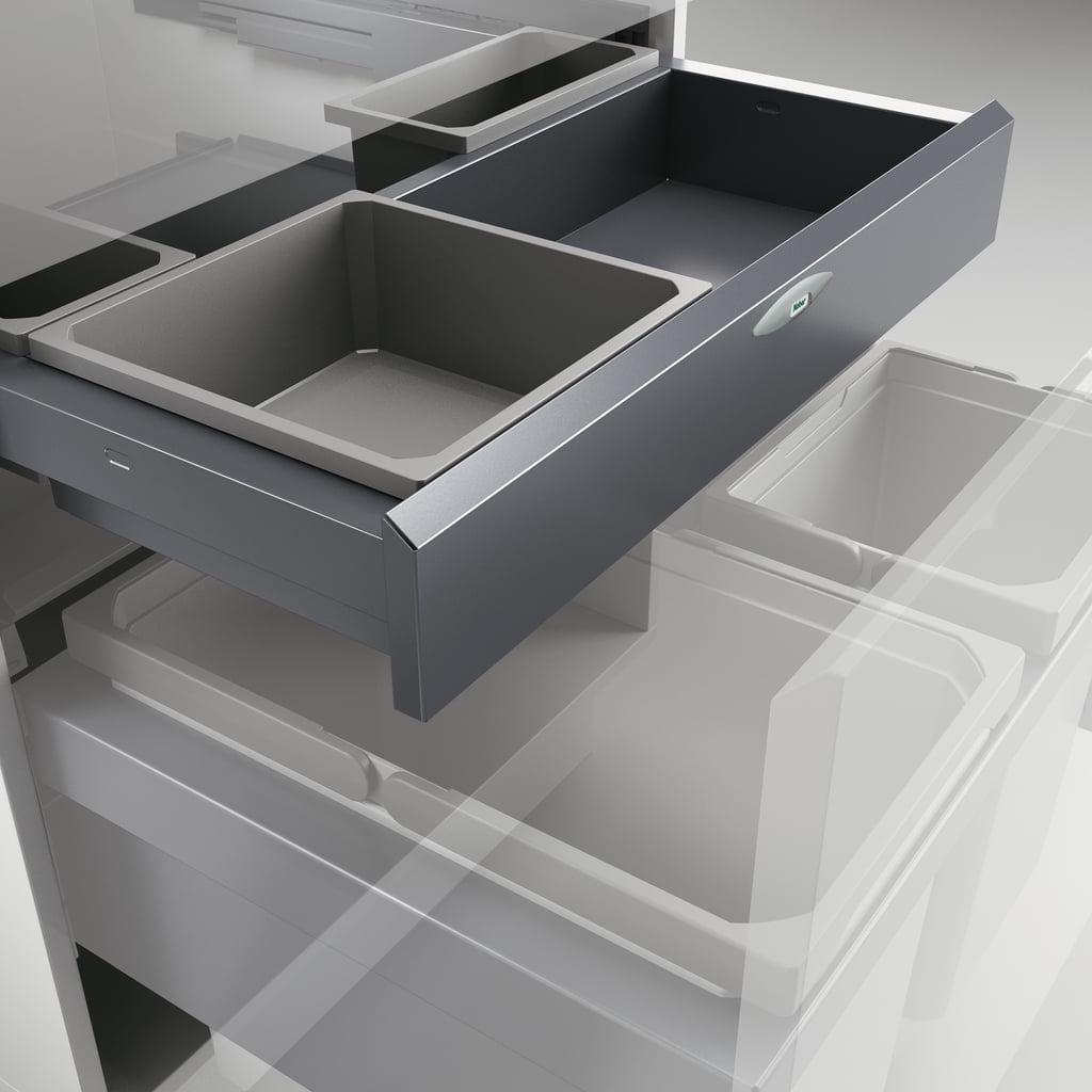 Cox Base-Board® 600, Schuiflade voor benodigdheden, zilver