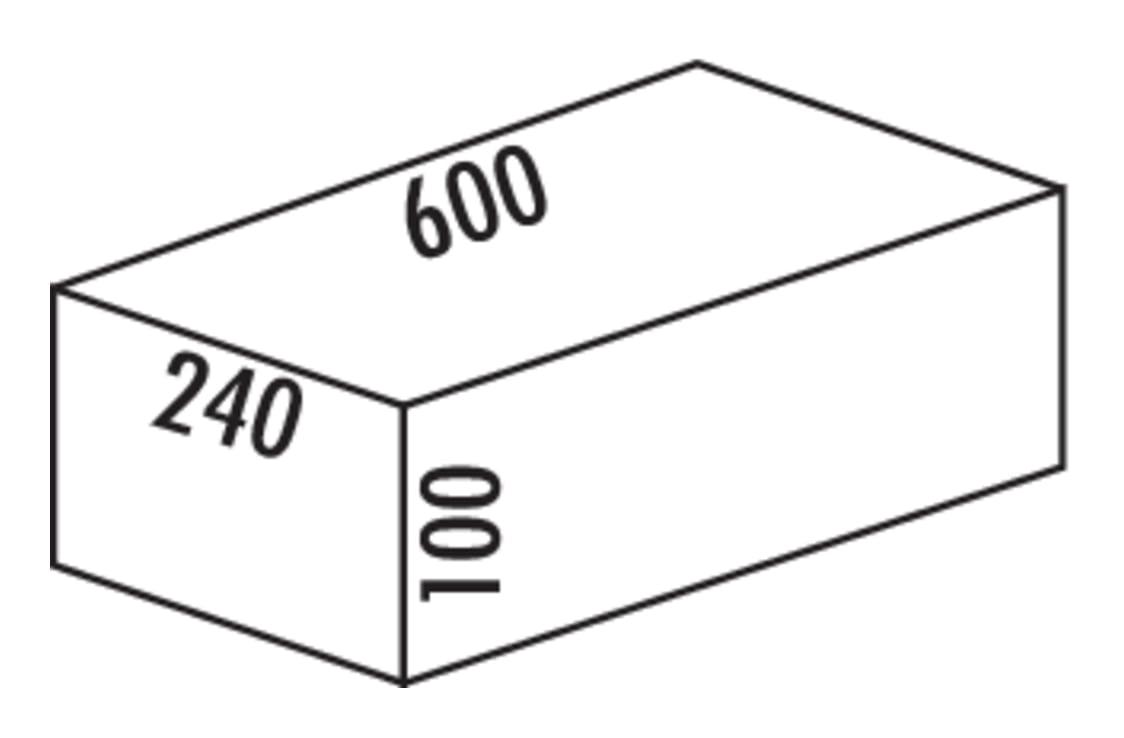Cox Base-Boardィ 600, Schuiflade voor benodigdheden., zilver