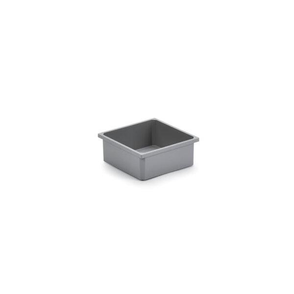 Bewaarbox., donkergrijs, 2,7 liter
