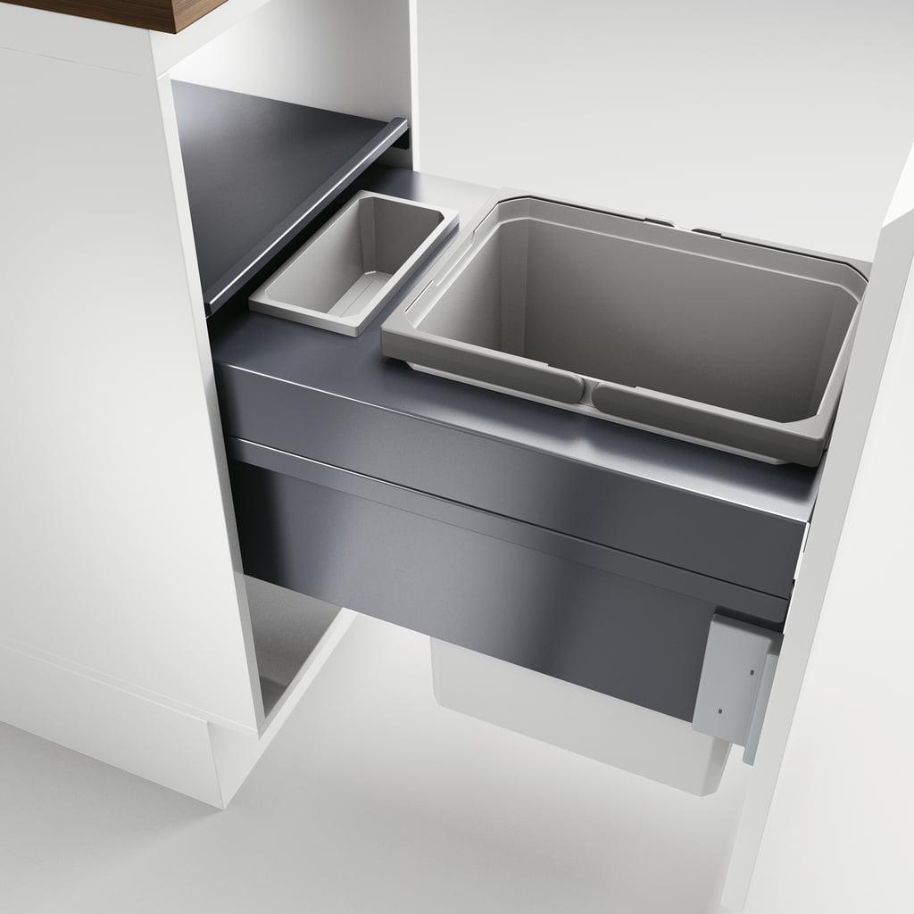 Cox Clan® 490/400-2, afvalsysteem voor Frontuittreksysteem, lichtgrijs, H 490 mm