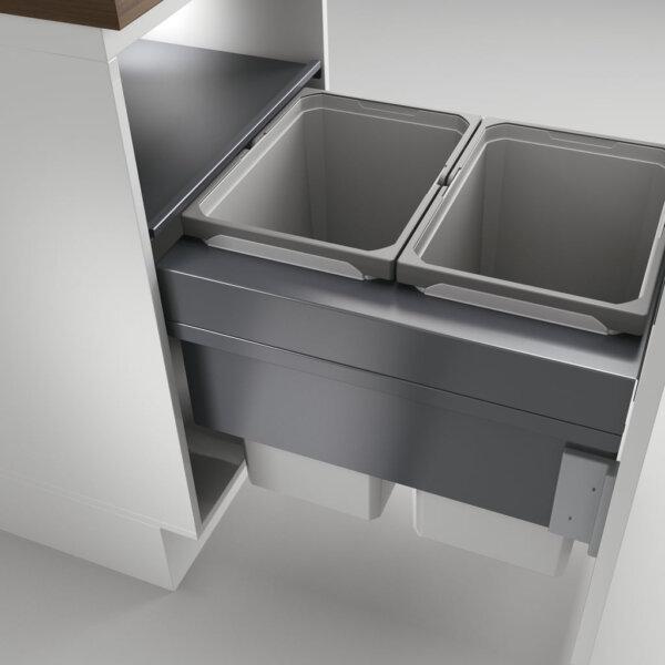 Cox Clan® 490/500-2, afvalsysteem voor Frontuittreksysteem, lichtgrijs, H 490 mm