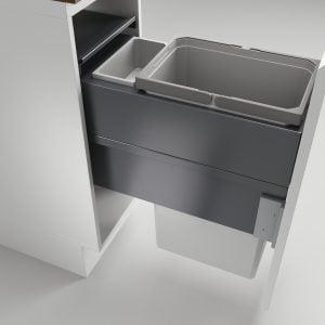 Cox Clan® 580/300-2, afvalsysteem voor Frontuittreksysteem, lichtgrijs, H 580 mm