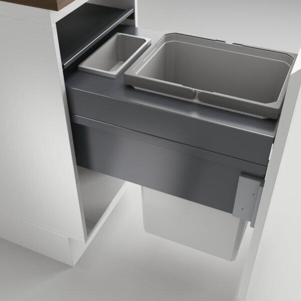 Cox Clan® 580/400-2, afvalsysteem voor Frontuittreksysteem, lichtgrijs, H 580 mm