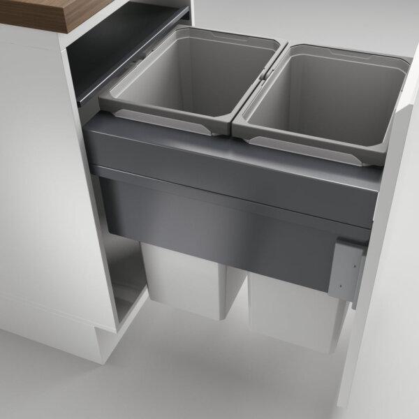 Cox Clan® 580/500-2, afvalsysteem voor Frontuittreksysteem, lichtgrijs, H 580 mm