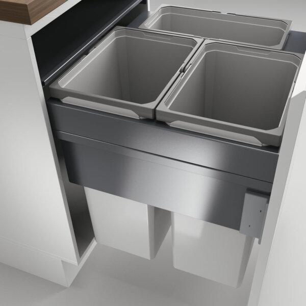 Cox Clan® 580/600-3, afvalsysteem voor Frontuittreksysteem, lichtgrijs, H 580 mm