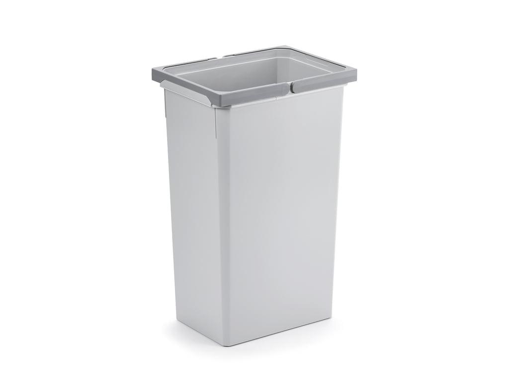 Reserve emmer, Afvalverzamelsysteem voor Frontuittreksysteem., lichtgrijs, 35 Liter
