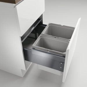 Cox® Base 360 K/500-2, afvalsysteem voor Frontuittreksysteem, zonder biologisch deksel, lichtgrijs, H 360 mm