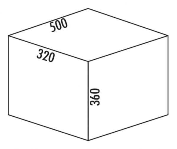 Coxィ Base 360 K/500-2, Afvalverzamelsysteem voor Frontuittreksysteem., met biologisch deksel, lichtgrijs, H 360 mm