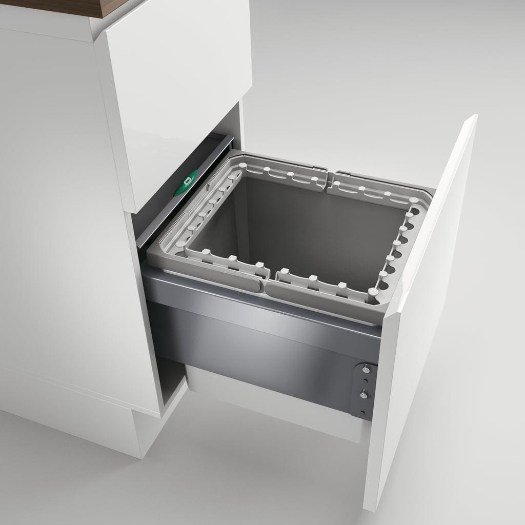 Cox® Base 360 R/400-1, afvalsysteem voor Frontuittreksysteem, lichtgrijs, H 360 mm