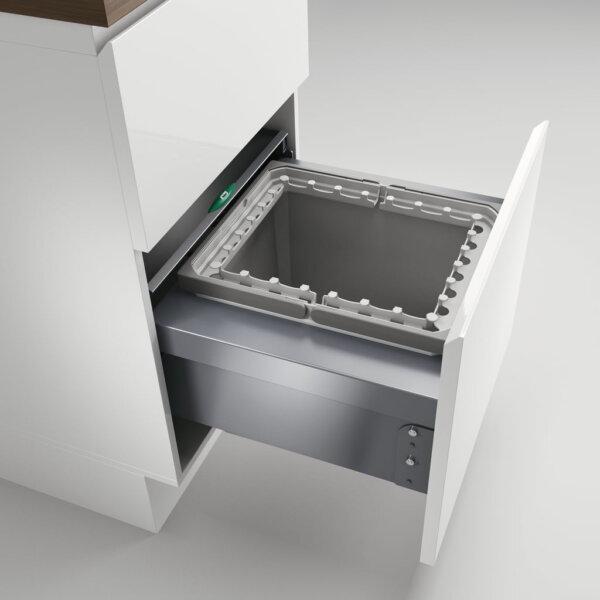 Cox® Base 360 R/500-1, afvalsysteem voor Frontuittreksysteem, lichtgrijs, H 360 mm