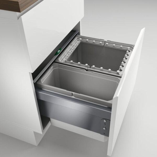 Cox® Base 360 R/600-2, afvalsysteem voor Frontuittreksysteem, lichtgrijs, H 360 mm