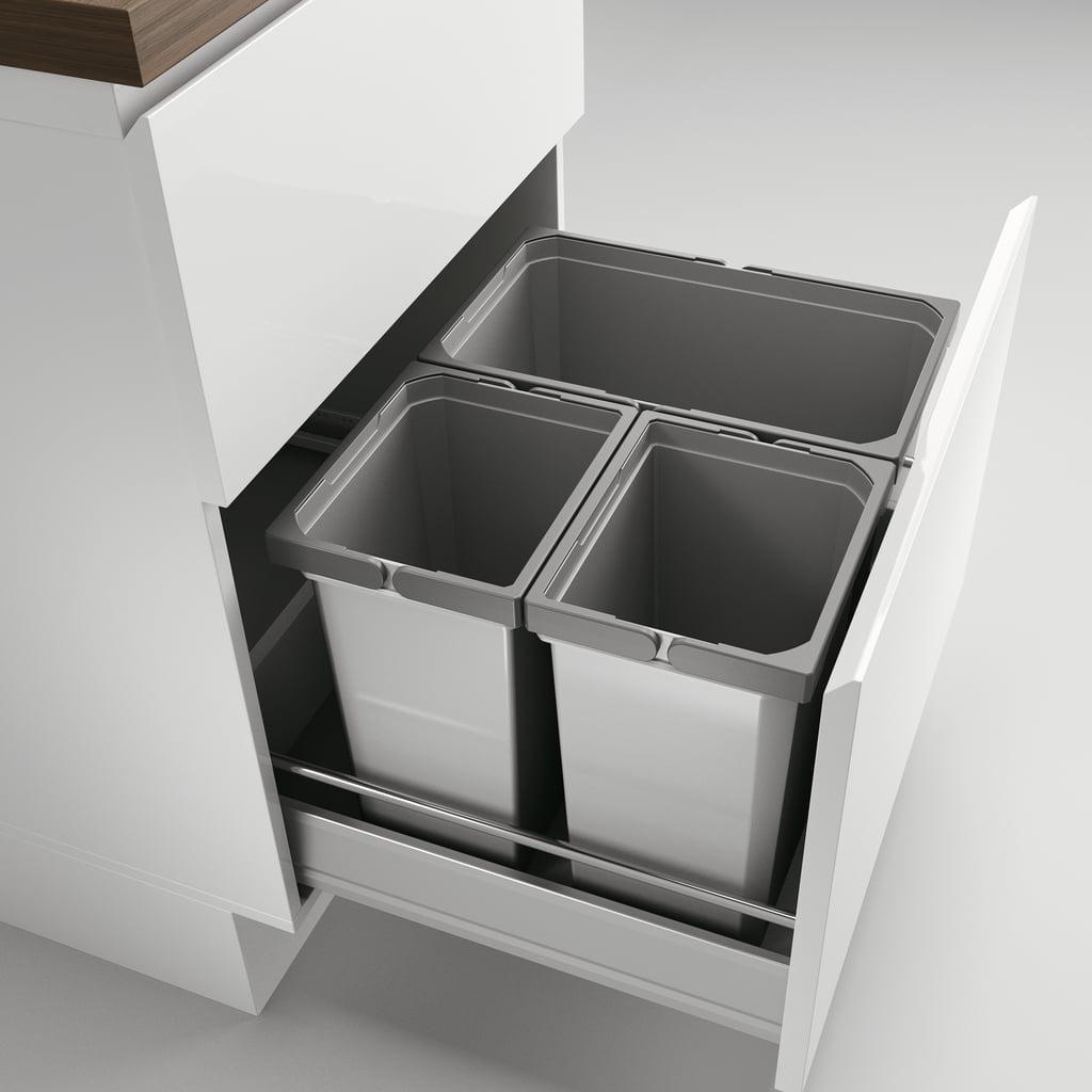 Cox® Box 360 S/600-3, Afvalsysteem voor gangbare uittreksystemen, zonder biologisch deksel, lichtgrijs