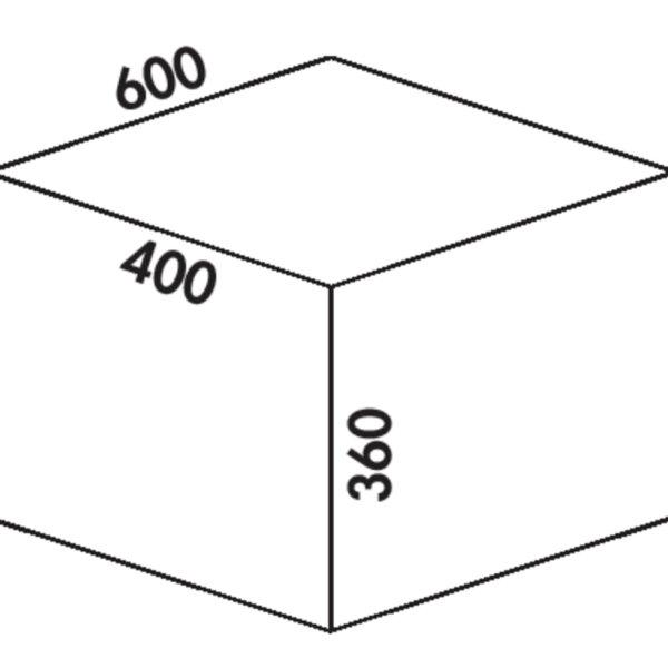 Coxィ Box 360 S/600-3, Afvalverzamelsysteem voor voorhanden uittreksystemen., met biologisch deksel, lichtgrijs