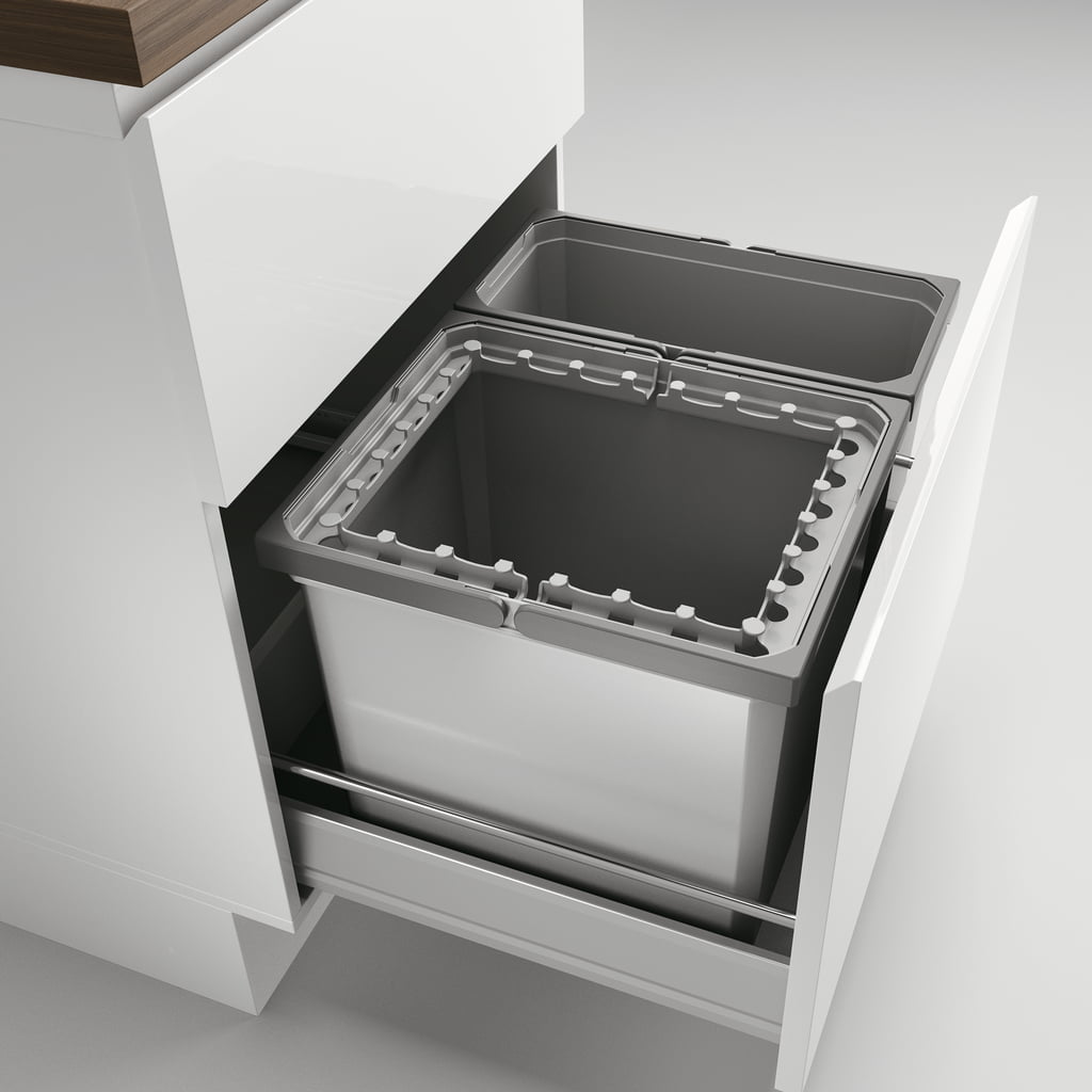 Cox® Box 360 S/600-2, Afvalsysteem voor gangbare uittreksystemen, lichtgrijs
