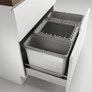 Cox® Box 350 S/800-3, Afvalsysteem voor gangbare uittreksystemen, lichtgrijs