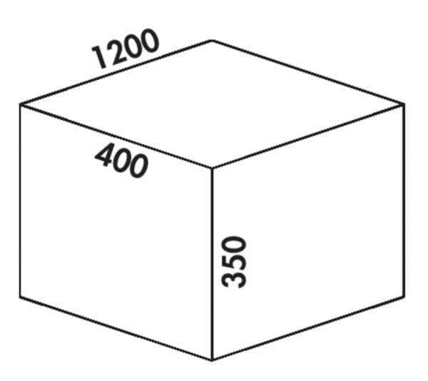 Coxィ Box 350 S/1200-6, Afvalverzamelsysteem voor voorhanden uittreksystemen., met biologisch deksel, lichtgrijs