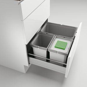 Cox® Box 235 S/600-3 Bio, Afvalsysteem voor gangbare uittreksystemen, lichtgrijs