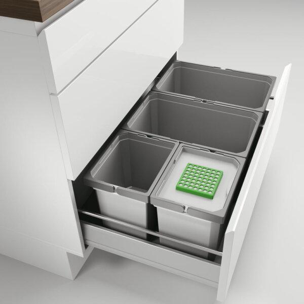 Cox® Box 235 S/800-4 Bio, Afvalsysteem voor gangbare uittreksystemen, lichtgrijs