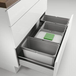 Cox® Box 235 S/900-4 Bio, Afvalsysteem voor gangbare uittreksystemen, lichtgrijs