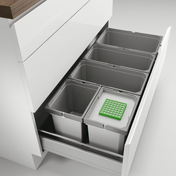 Cox® Box 235 S/1000-5 Bio, Afvalsysteem voor gangbare uittreksystemen, lichtgrijs