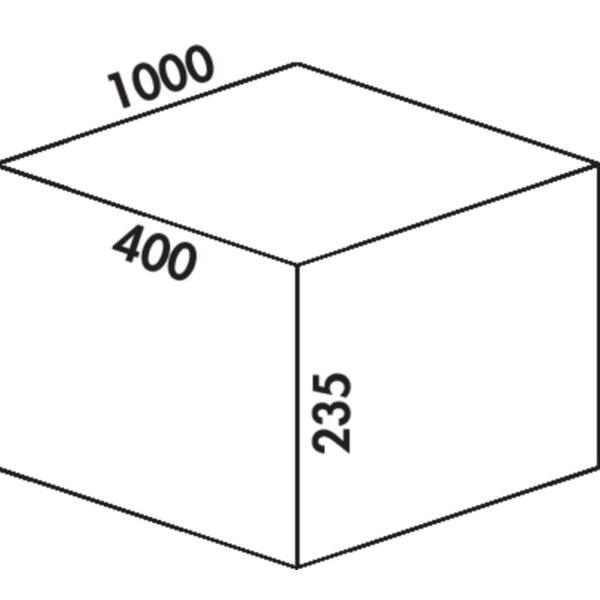 Coxィ Box 235 S/1000-4, Afvalverzamelsysteem voor voorhanden uittreksystemen., lichtgrijs