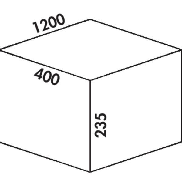 Coxィ Box 235 S/1200-6, Afvalverzamelsysteem voor voorhanden uittreksystemen., lichtgrijs