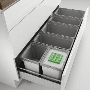 Cox® Box 235 S/1200-6 Bio, Afvalsysteem voor gangbare uittreksystemen, lichtgrijs