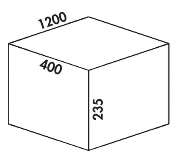 Coxィ Box 235 S/1200-6 Bio, Afvalverzamelsysteem voor voorhanden uittreksystemen., lichtgrijs