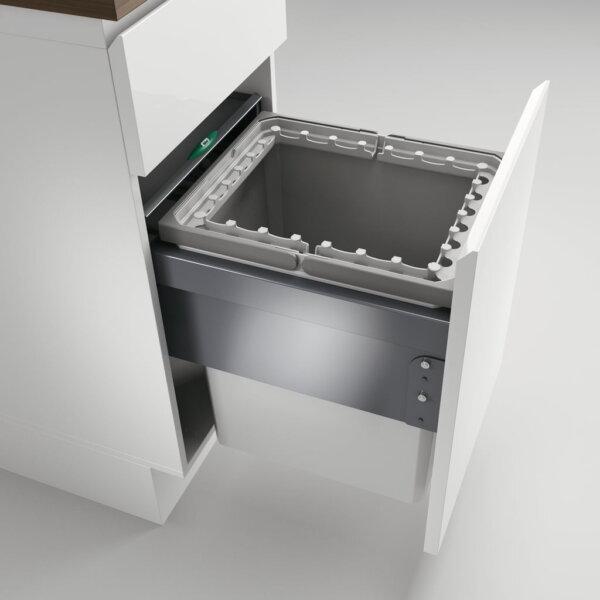 Cox® Base 460 R/400-1, afvalsysteem voor Frontuittreksysteem, lichtgrijs, H 460 mm