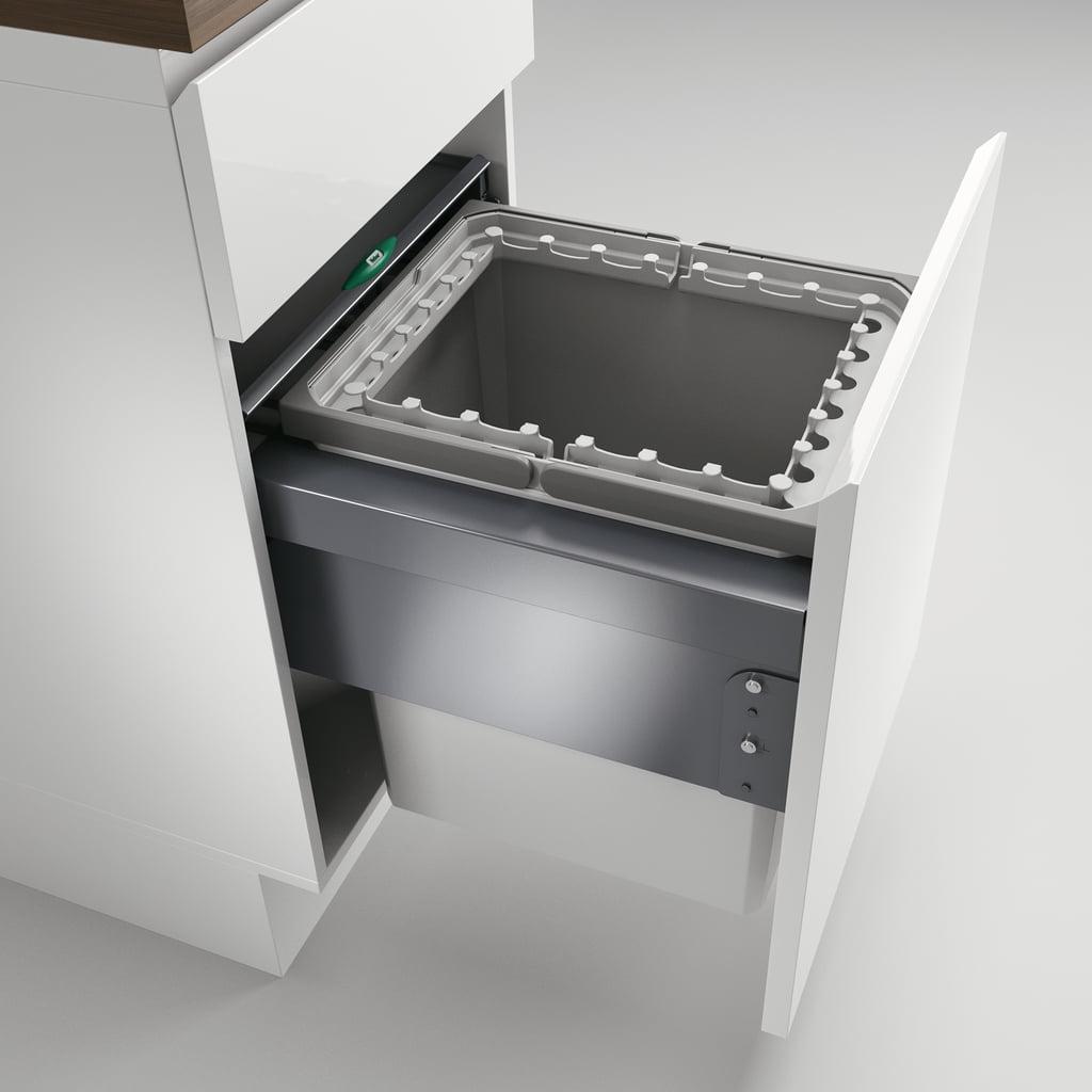 Cox® Base 460 R/450-1, afvalsysteem voor Frontuittreksysteem, lichtgrijs, H 460 mm