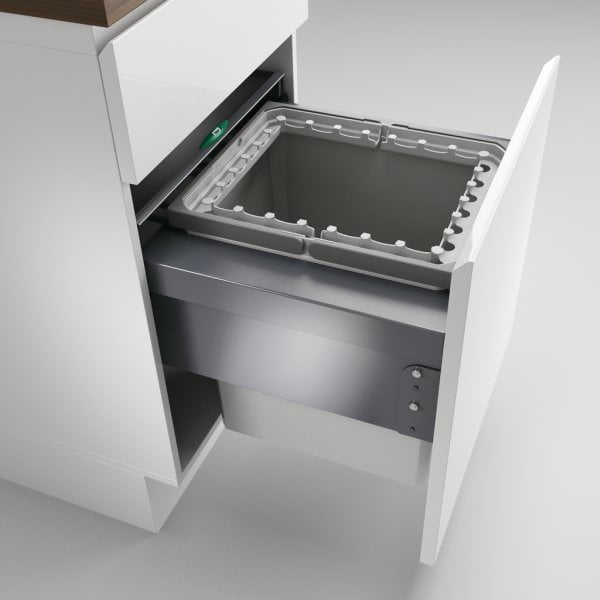 Cox® Base 460 R/500-1, afvalsysteem voor Frontuittreksysteem, lichtgrijs, H 460 mm