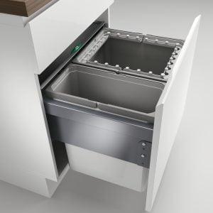 Cox® Base 460 R/600-2, afvalsysteem voor Frontuittreksysteem, lichtgrijs, H 460 mm