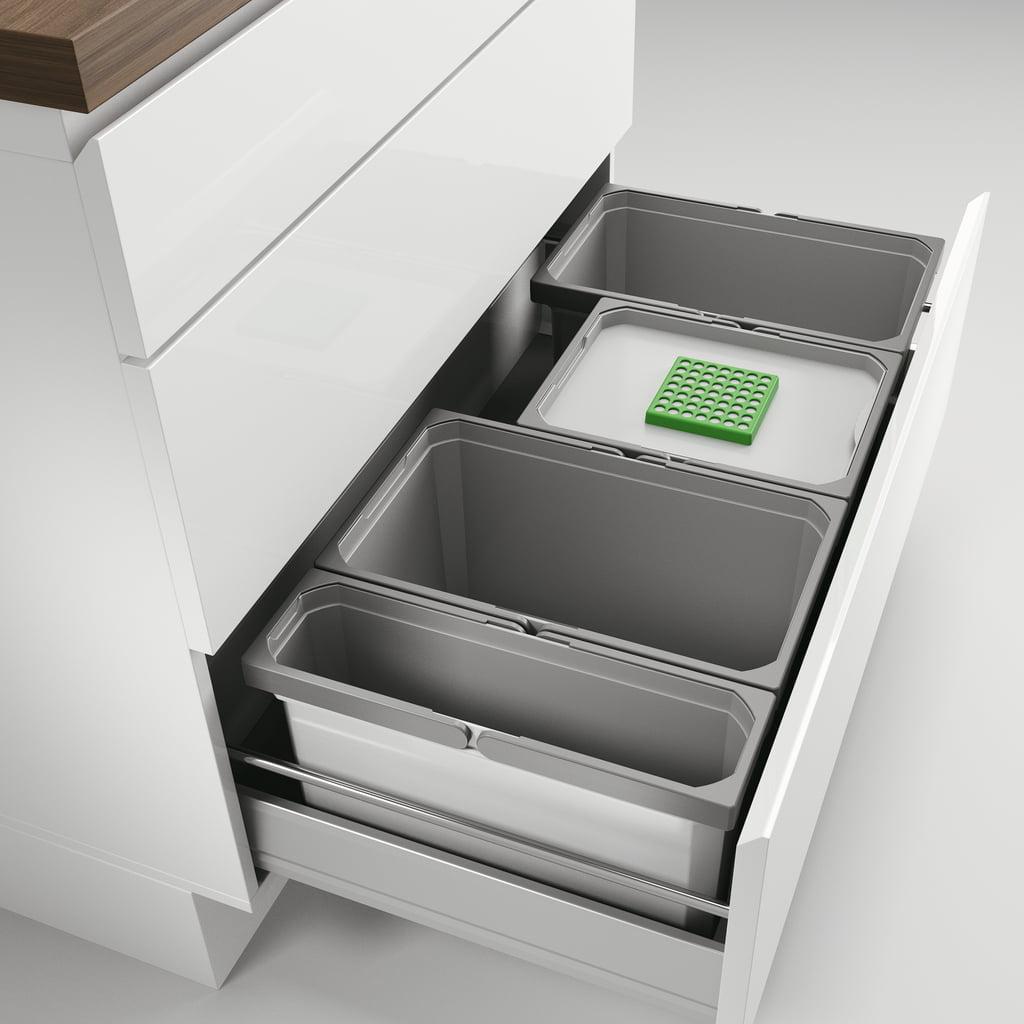 Cox® Box 235 S/900-3 Bio, Afvalsysteem voor gangbare uittreksystemen, lichtgrijs