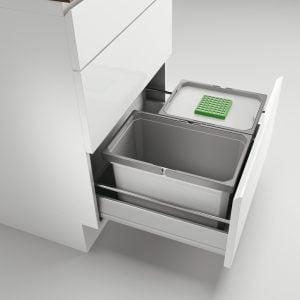 Cox® Box 235 S/600-2 Bio, Afvalsysteem voor gangbare uittreksystemen, lichtgrijs