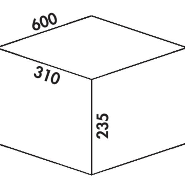 Coxィ Box 235 K/600-2, Afvalverzamelsysteem voor voorhanden uittreksystemen., zonder biologisch deksel, lichtgrijs