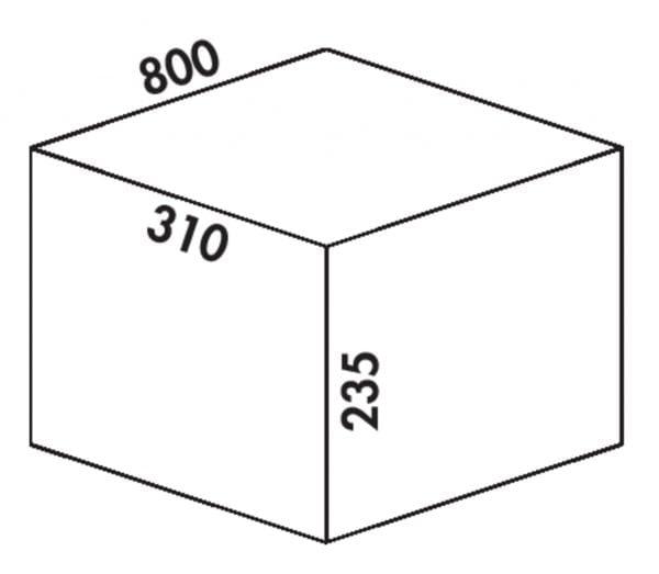 Coxィ Box 235 K/800-3, Afvalverzamelsysteem voor voorhanden uittreksystemen., met biologisch deksel, lichtgrijs