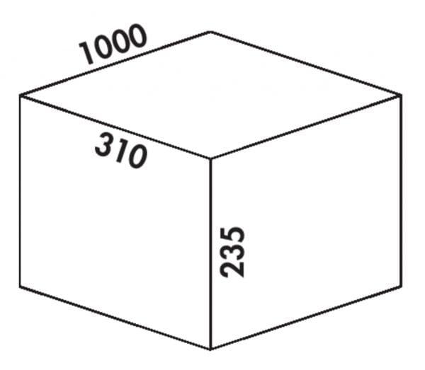 Coxィ Box 235 K/1000-4, Afvalverzamelsysteem voor voorhanden uittreksystemen., met biologisch deksel, lichtgrijs