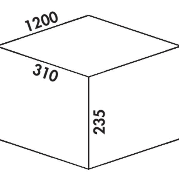 Coxィ Box 235 K/1200-5, Afvalverzamelsysteem voor voorhanden uittreksystemen., met biologisch deksel, lichtgrijs