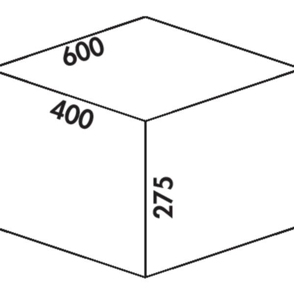 Coxィ Box 275 S/600-3, Afvalverzamelsysteem voor voorhanden uittreksystemen., lichtgrijs