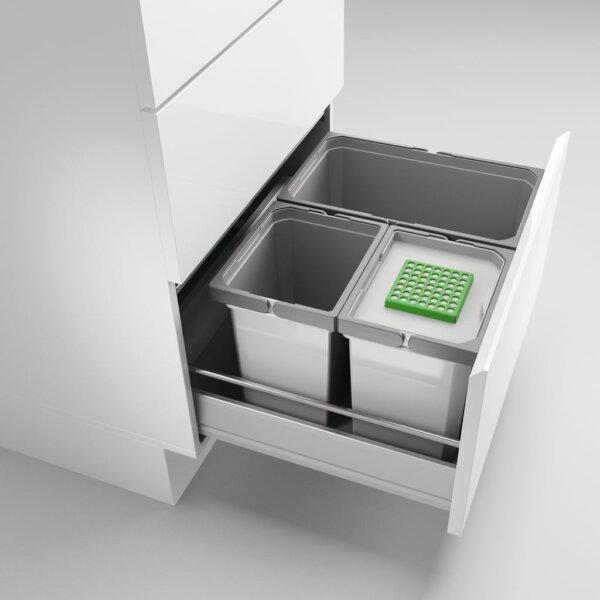 Cox® Box 275 S/600-3 Bio, Afvalsysteem voor gangbare uittreksystemen, lichtgrijs