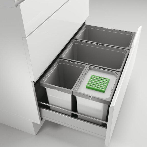 Cox® Box 275 S/800-4 Bio, Afvalsysteem voor gangbare uittreksystemen, lichtgrijs