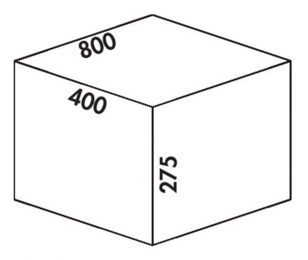 Coxィ Box 275 S/800-4 Bio, Afvalverzamelsysteem voor voorhanden uittreksystemen., lichtgrijs