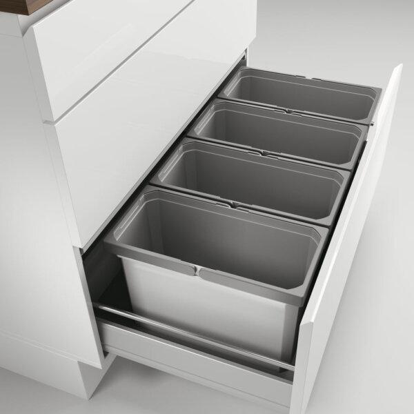 Cox® Box 275 S/900-4, Afvalsysteem voor gangbare uittreksystemen, lichtgrijs