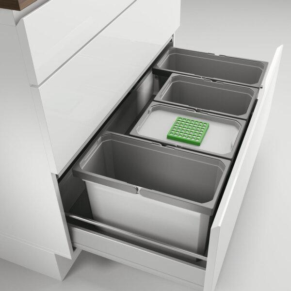 Cox® Box 275 S/900-4 Bio, Afvalsysteem voor gangbare uittreksystemen, lichtgrijs