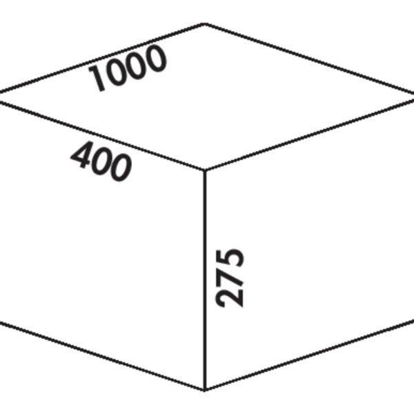Coxィ Box 275 S/1000-4, Afvalverzamelsysteem voor voorhanden uittreksystemen., lichtgrijs