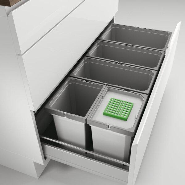 Cox® Box 275 S/1000-5 Bio, Afvalsysteem voor gangbare uittreksystemen, lichtgrijs