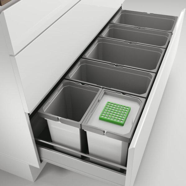 Cox® Box 275 S/1200-6 Bio, Afvalsysteem voor gangbare uittreksystemen, lichtgrijs